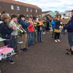 Fun Fiddle and Brass Blast Busk June 2017